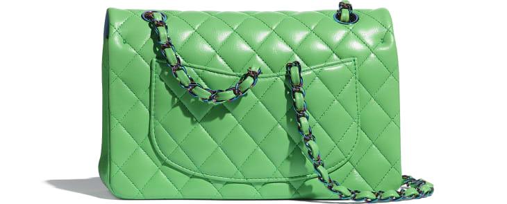 image 2 - Bolsa Clássica Pequena - Lambskin & Rainbow Metal - Verde