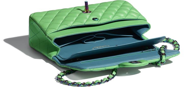 image 3 - Petit sac classique - Agneau & métal arc-en-ciel - Vert