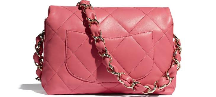 image 2 - Small Flap Bag - Lambskin - Coral