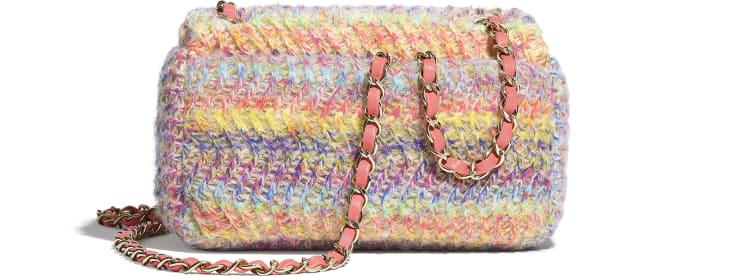 image 2 - Bolsa Pequena - Malha & Metal Dourado - Multicolorido