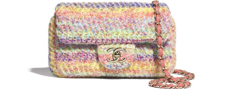 image 1 - Bolsa Pequena - Malha & Metal Dourado - Multicolorido