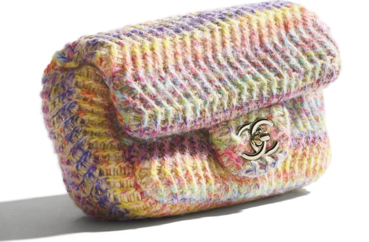 image 4 - Bolsa Pequena - Malha & Metal Dourado - Multicolorido