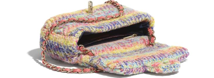 image 3 - Bolsa Pequena - Malha & Metal Dourado - Multicolorido