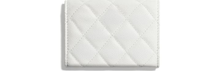 image 2 - Carteira Pequena - Couro de Novilho Brilhante Granulado - Branco