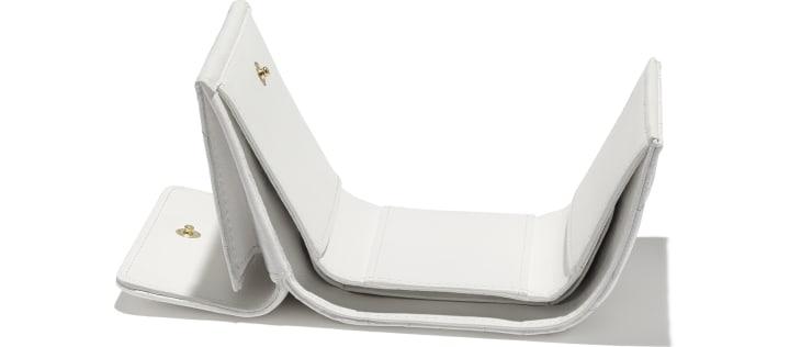 image 4 - Carteira Pequena - Couro de Novilho Brilhante Granulado - Branco