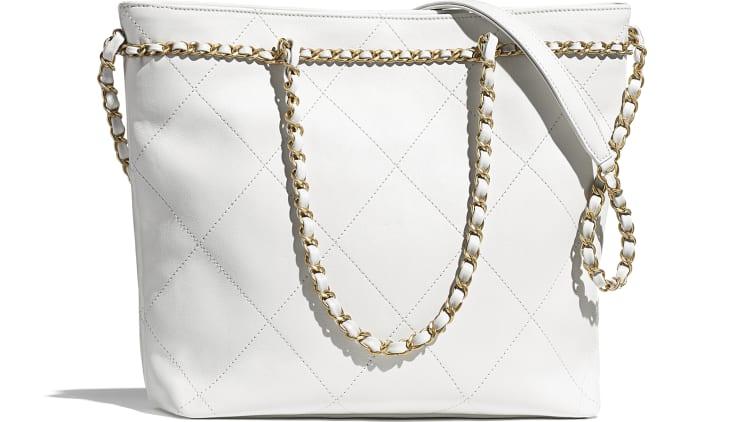 image 2 - スモール ショッピング バッグ - カーフスキン - ホワイト