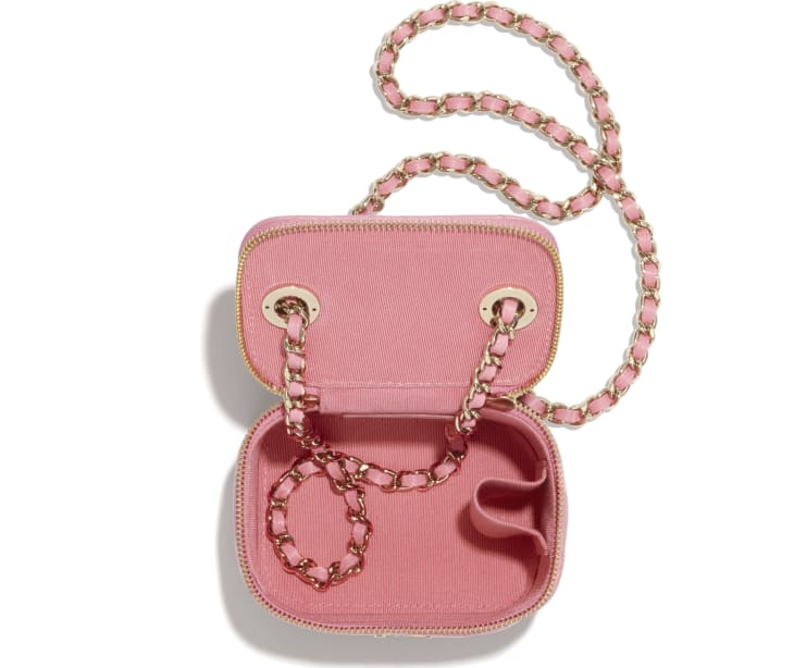 image 3 - Small Vanity with Chain - Lambskin & Gold-Tone Metal - Pale Pink