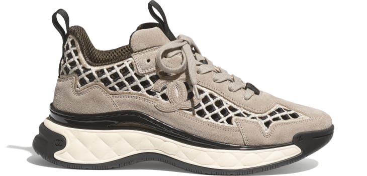 image 1 - Sneakers - Suede Calfskin & Embroidery - Beige