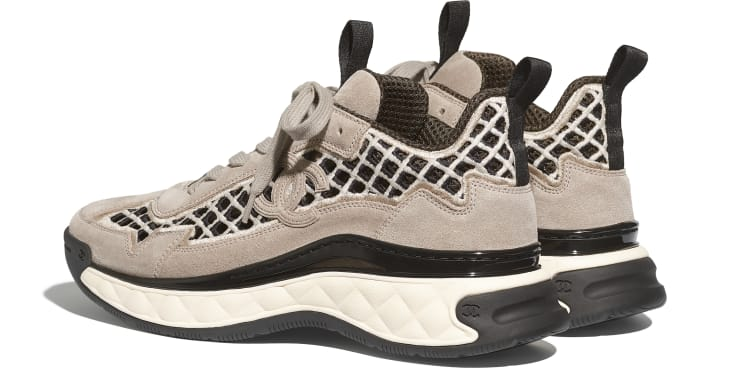 image 3 - Sneakers - Suede Calfskin & Embroidery - Beige
