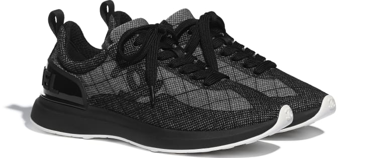 image 2 - Sneakers - Embroidered Mesh - Black