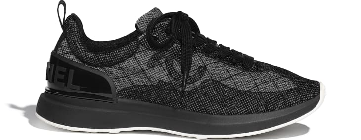 image 1 - Sneakers - Embroidered Mesh - Black