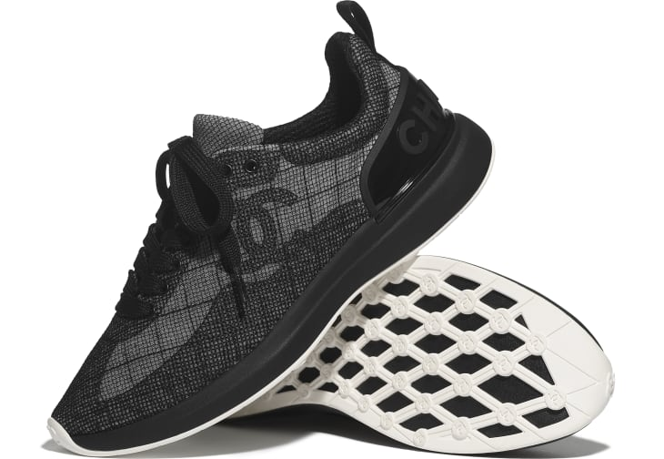 image 4 - Sneakers - Embroidered Mesh - Black