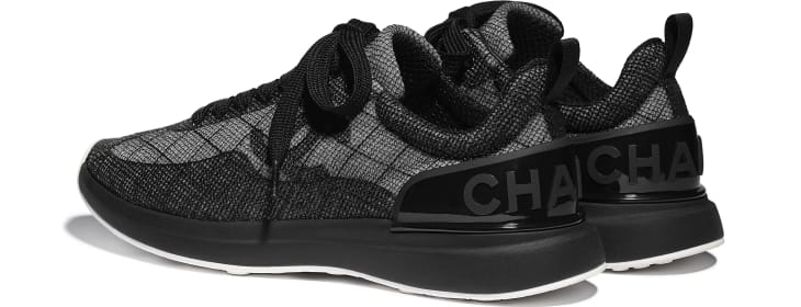 image 3 - Sneakers - Embroidered Mesh - Black