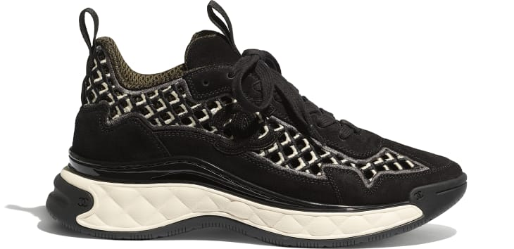 image 1 - Sneakers - Suede Calfskin & Embroidery - Black