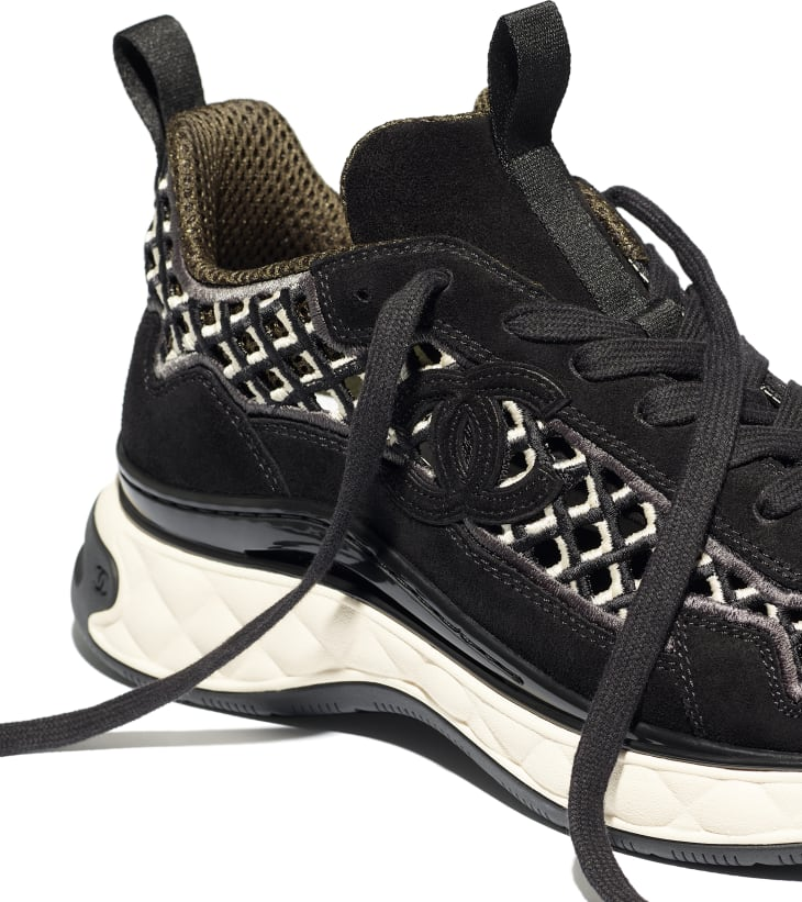 image 4 - Sneakers - Suede Calfskin & Embroidery - Black