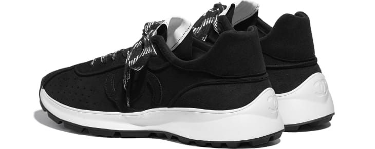 image 3 - Trainers - Suede Goatskin - Black