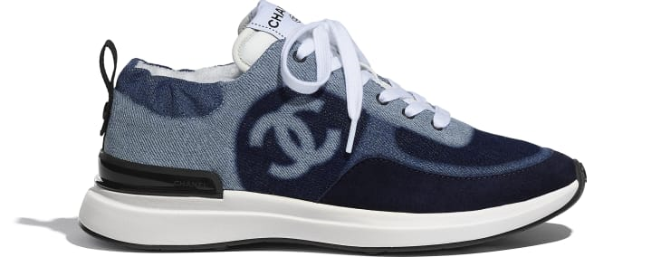 image 1 - Sneakers - Denim & Suede Calfskin - Blue