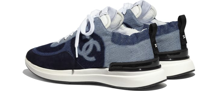 image 3 - Sneakers - Denim & Suede Calfskin - Blue