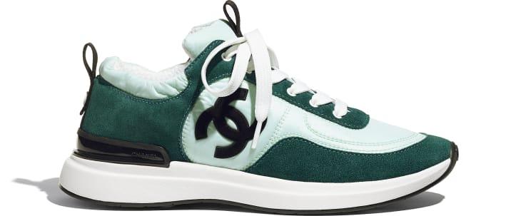image 1 - Sneakers - Suede Calfskin & Nylon  - Light Green & Green