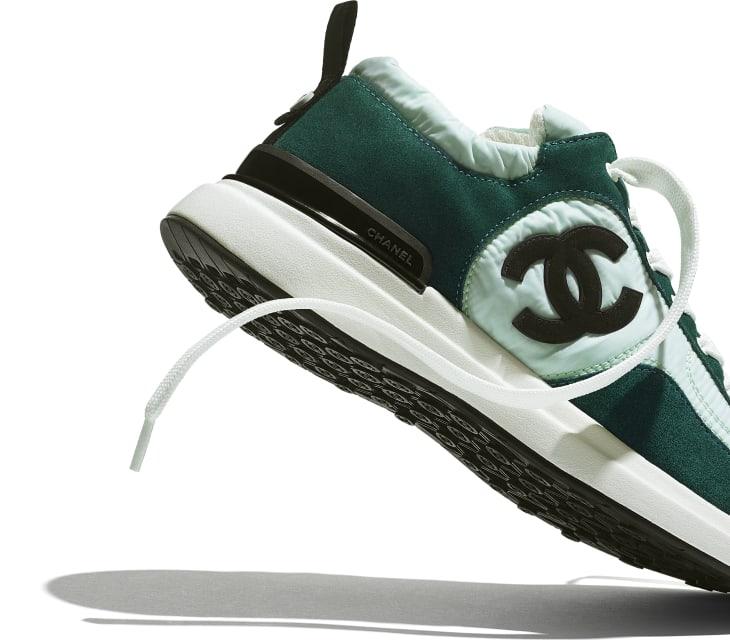 image 4 - Sneakers - Suede Calfskin & Nylon  - Light Green & Green