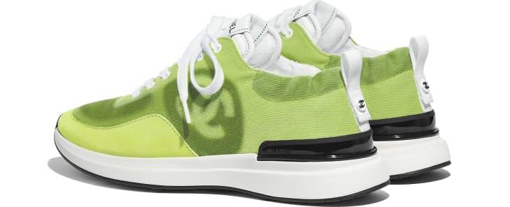 image 3 - Sneakers - Denim & Suede Calfskin - Neon Yellow