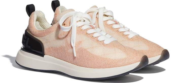 image 2 - Trainers - Embroidered Mesh - Pale Pink