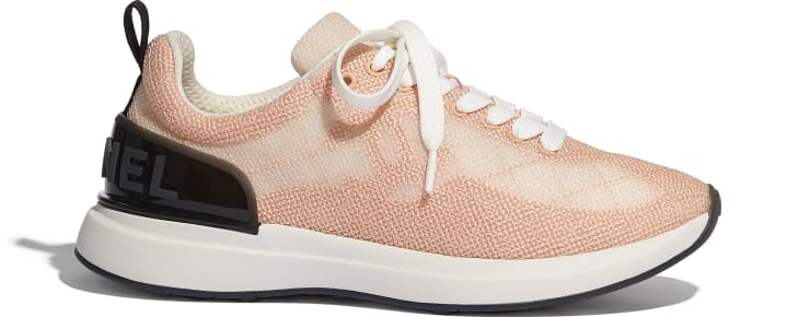 image 1 - Trainers - Embroidered Mesh - Pale Pink