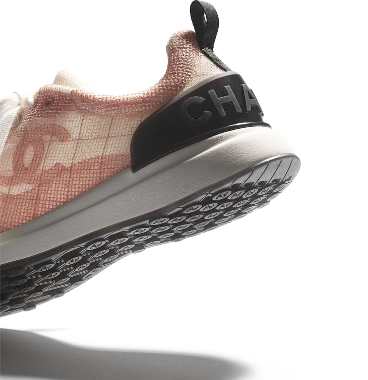 image 4 - Trainers - Embroidered Mesh - Pale Pink