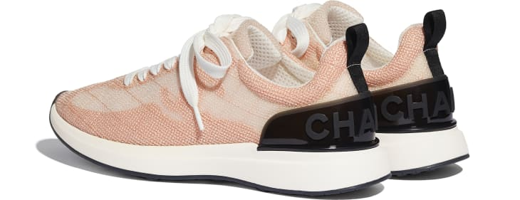image 3 - Trainers - Embroidered Mesh - Pale Pink