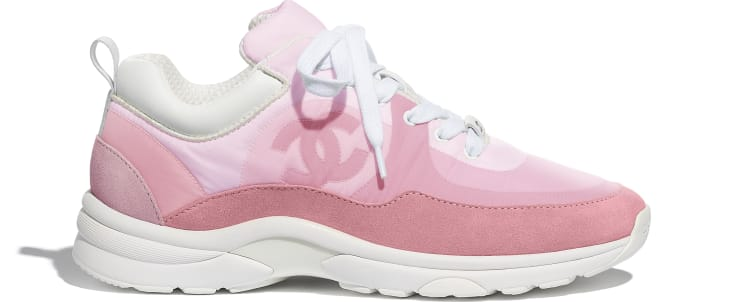 image 1 - Sneakers - Suede Calfskin & Nylon  - Pale Pink