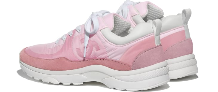 image 3 - Sneakers - Suede Calfskin & Nylon  - Pale Pink