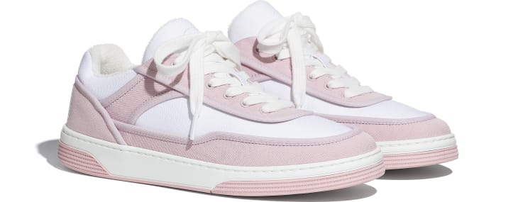 image 2 - Sneakers - Fabric - Pink & White