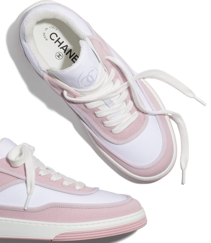 image 4 - Sneakers - Fabric - Pink & White