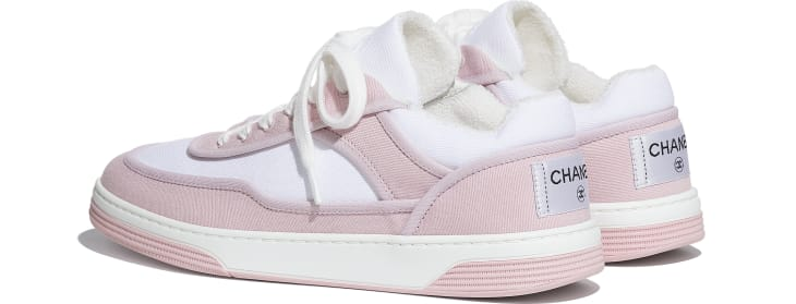 image 3 - Sneakers - Fabric - Pink & White