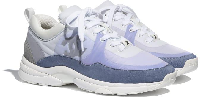 image 2 - Sneakers - Suede Calfskin & Nylon  - Sky Blue
