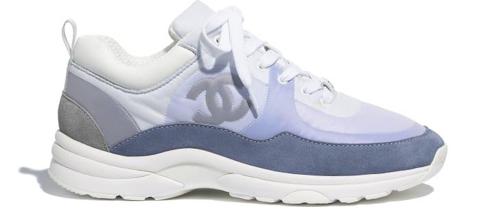 image 1 - Sneakers - Suede Calfskin & Nylon  - Sky Blue
