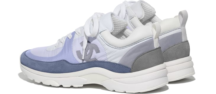 image 3 - Sneakers - Suede Calfskin & Nylon  - Sky Blue
