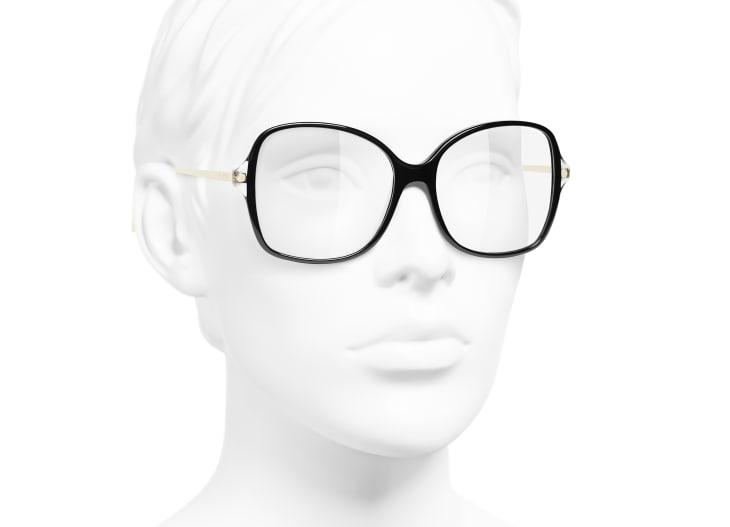 image 6 - Óculos De Grau Quadrado - Acetato & Metal - Preto