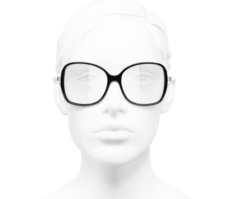 image 5 - Óculos De Grau Quadrado - Acetato & Metal - Preto