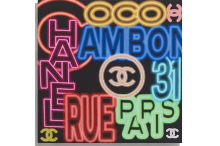 image 3 - Carré - Twill de soie - Noir & multicolore