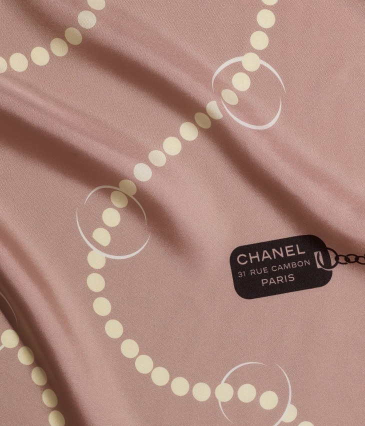 image 1 - Square Scarf - Silk Twill - Pale Pink