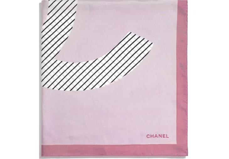 image 2 - スカーフ - シルク ツイル - イエロー、ブルー & ピンク