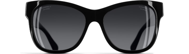 image 2 - Square Sunglasses - Acetate - Black