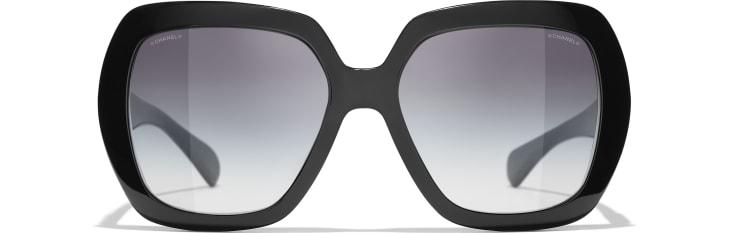 image 2 - Square Sunglasses - Acetate - Black
