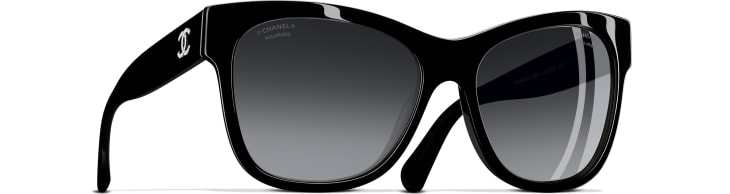 image 1 - Square Sunglasses - Acetate - Black