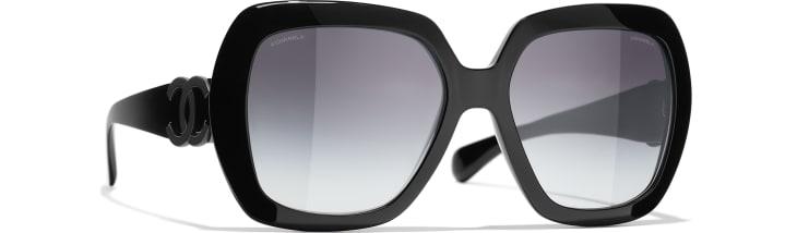 image 1 - Square Sunglasses - Acetate - Black