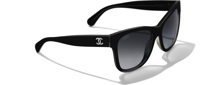 image 4 - Square Sunglasses - Acetate - Black
