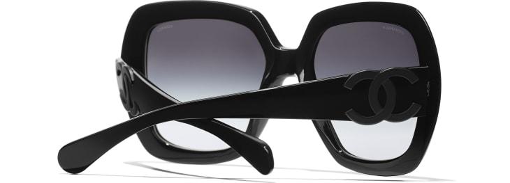 image 4 - Square Sunglasses - Acetate - Black