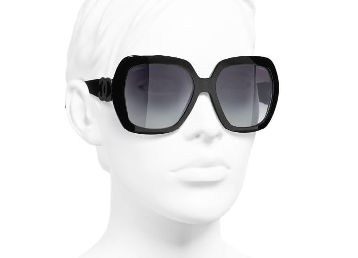 image 6 - Square Sunglasses - Acetate - Black