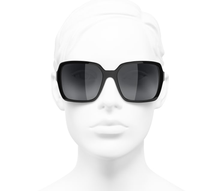 image 5 - Square Sunglasses - Acetate - Black